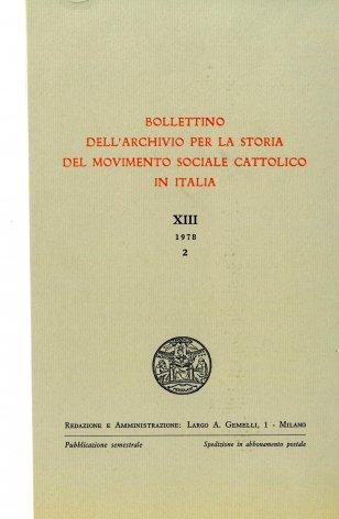 Il movimento cattolico a Treviso dal 1911 al 1917 e l'organizzazione economico-sociale