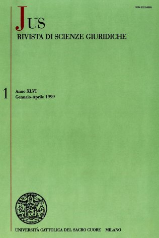 JUS - 1999 - 1. STUDI IN ONORE DI GIOVANNI MARIA UBERTAZZI