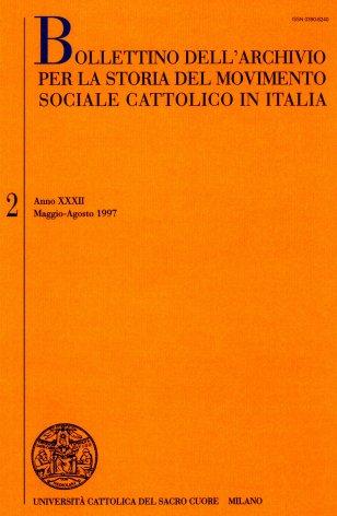 La cooperazione nel pensiero dei cattolici tra fine Ottocento e avvento del regime fascista