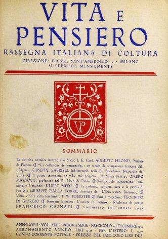 La dottrina cattolica intorno allo Stato
