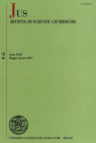 La giuridicità pubblica e la riforma del Titolo V, parte II, della Costituzione