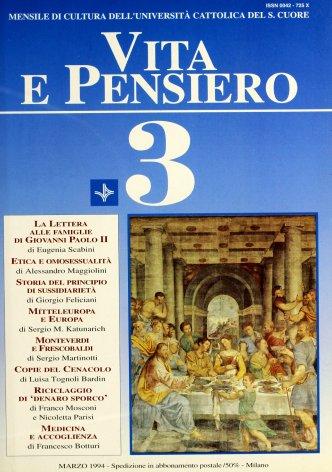 La Lettera alle famiglie di papa Giovanni Paolo II. Alcune riflessioni