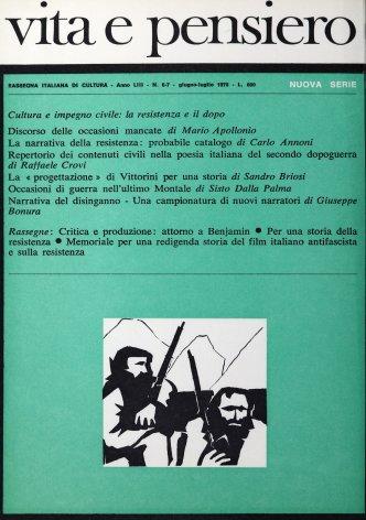 La narrativa della resistenza: probabile catalogo