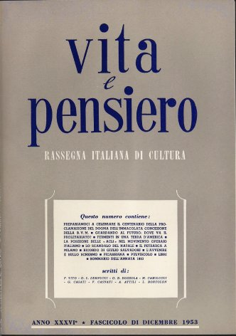 La posizione delle «Acli» nel movimento operaio italiano