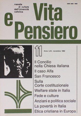 La povertà in Italia: profili etico-sociali