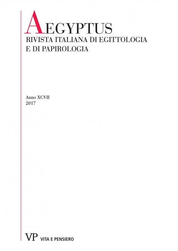 La produzione tessile nell'Arsinoites romana: professioni e artigiani