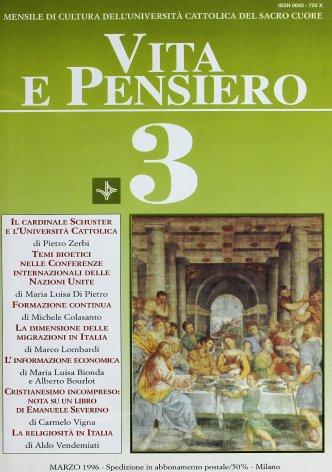 La religiosità in Italia. Note teologiche in margine ad una recente indagine sociologica