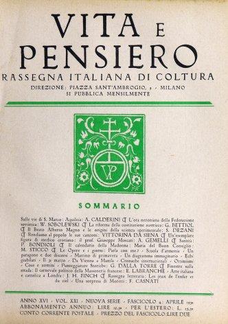 La rifoma della costituzione austriaca in un recente studio di Ignazio Seipel