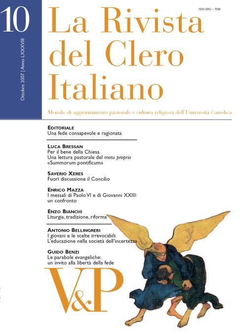 LA RIVISTA DEL CLERO ITALIANO - 2007 - 10