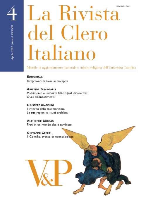 LA RIVISTA DEL CLERO ITALIANO - 2007 - 4