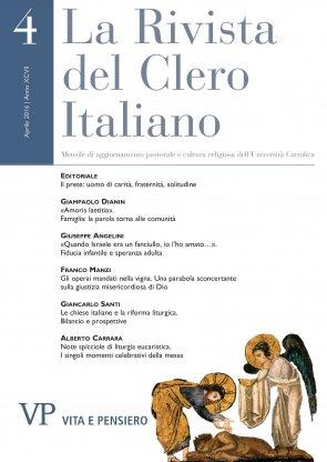 LA RIVISTA DEL CLERO ITALIANO  - 2016 - 4