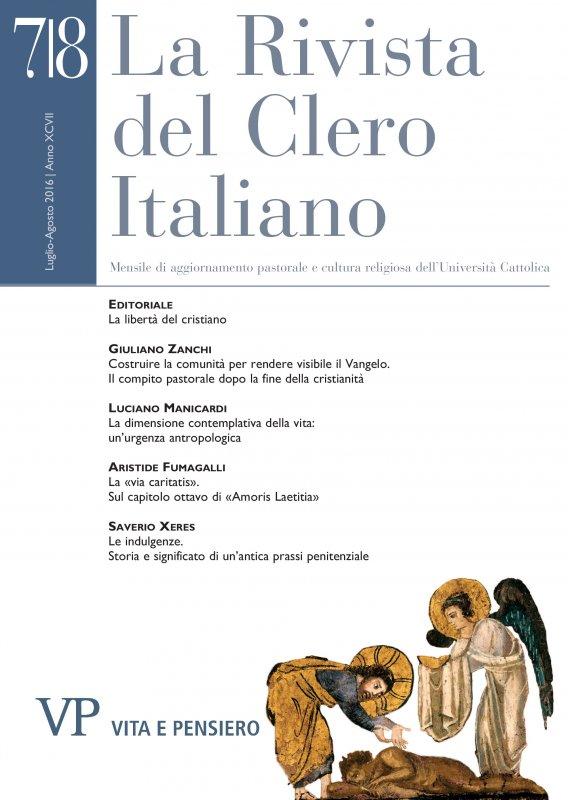 LA RIVISTA DEL CLERO ITALIANO - 2016 - 7 - 8