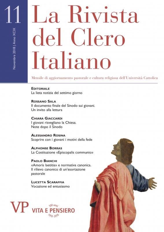 LA RIVISTA DEL CLERO ITALIANO - 2018 - 11