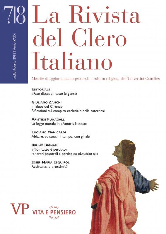 LA RIVISTA DEL CLERO ITALIANO - 2018 - 7-8