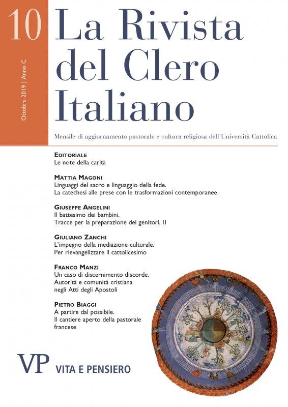 LA RIVISTA DEL CLERO ITALIANO - 2019 - 10