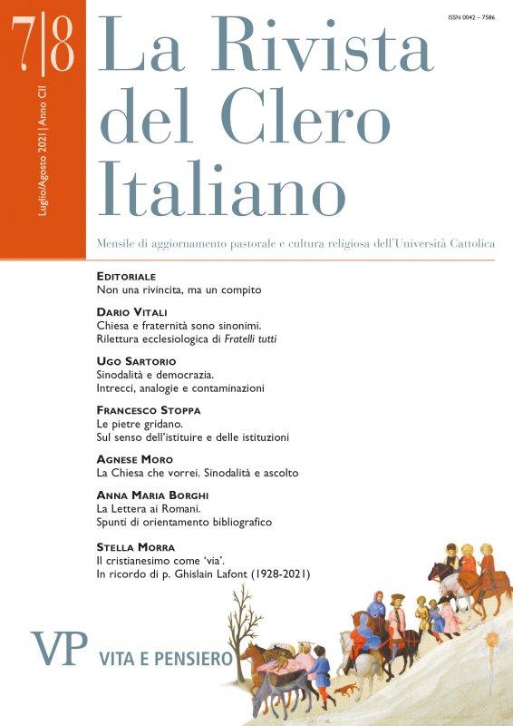 LA RIVISTA DEL CLERO ITALIANO - 2021 - 7-8