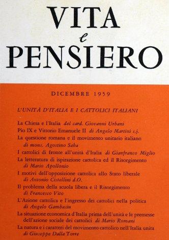 La situazione economica d'Italia prima dell'unità e le premesse dell'azione sociale dei cattolici