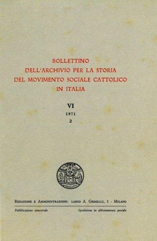 La Società della Gioventù cattolica italiana e la questione  sociale dalla