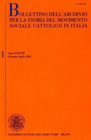 La storiografia sull'azione sociale e politica dei cattolici italiani tra otto e novecento