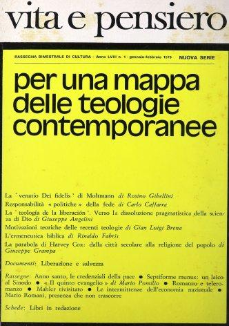 La teología de la liberación. Verso la dissoluzione pragmatistica della scienza di Dio
