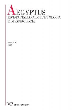 Labour, Handcraft and Profession in the Coroplastic Art of Graeco-Roman Egypt