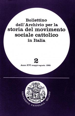 Lavoro e cultura cattolica nel declino dell'età liberale (1914-1924)