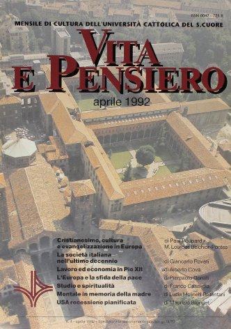 Lavoro ed economia nel magistero di Pio XII