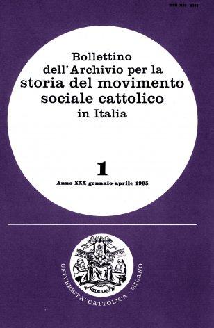 Le Carte Stefano Cavazzoni presso l'Archivio per la storia del movimento sociale cattolico in Italia