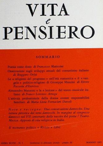 Le «religioni del progresso» nell'età romantica e il «vangelo» politico-religioso di Giuseppe Mazzini