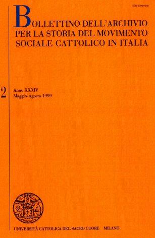 Le organizzazioni sociali cattoliche e la rappresentanza nelle pubbliche istituzioni. Il ruolo dell'Unione economico-sociale (1906-1914)