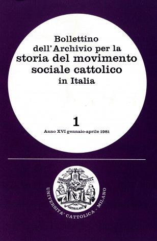 Le origini del movimento professionale cattolico e i suoi rapporti con la cooperazione (1900-1906)