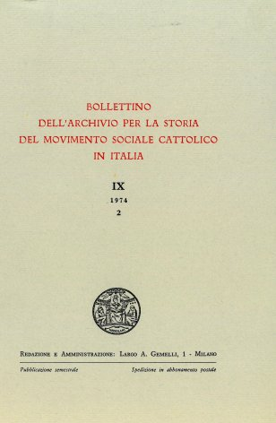 Le società operaie cattoliche in Piemonte nei primi anni dell'episcopato di Lorenzo Gastaldi (1871-1874)