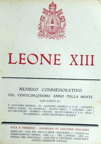 Leone XIII sommo pontefice e poeta