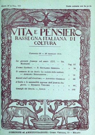 L'Italia e le nazionalità oppresse dall'Austria - Ungheria