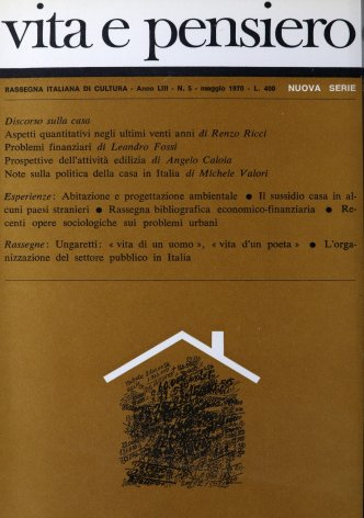 L'organizzazione del settore pubblico in Italia