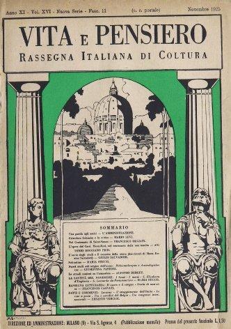 L'unità degli studi e il concetto della storia (da ricordi di Mons. Enrico Salvadori)