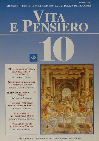 L'Università cattolica: la sua missione nei confronti della comunità ecclesiale