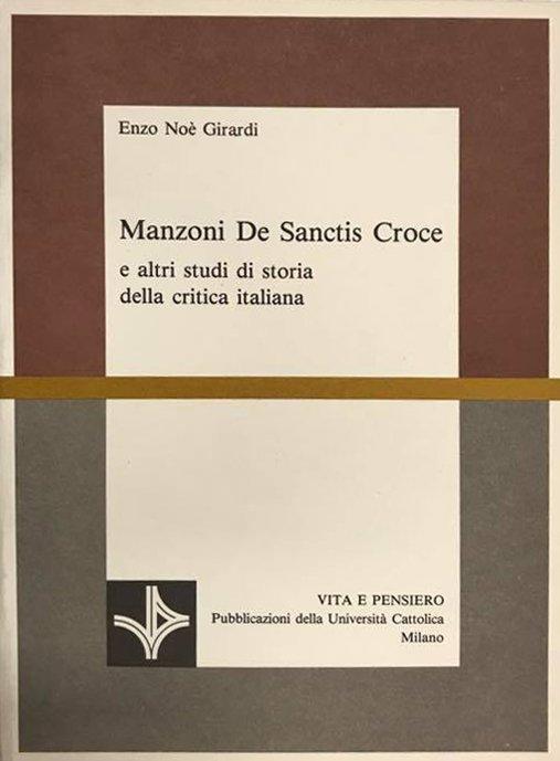 Manzoni De Sanctis Croce