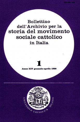 Materiali per lo studio dei problemi del lavoro in età giolittiana: le relazioni tenute nelle Settimane sociali dei cattolici italiani (1907-1913)