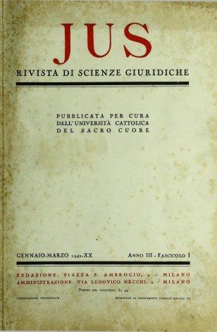Materie prime e diritto internazionale (A proposito della allocuzione natalizia di S.S. Pio Xll)