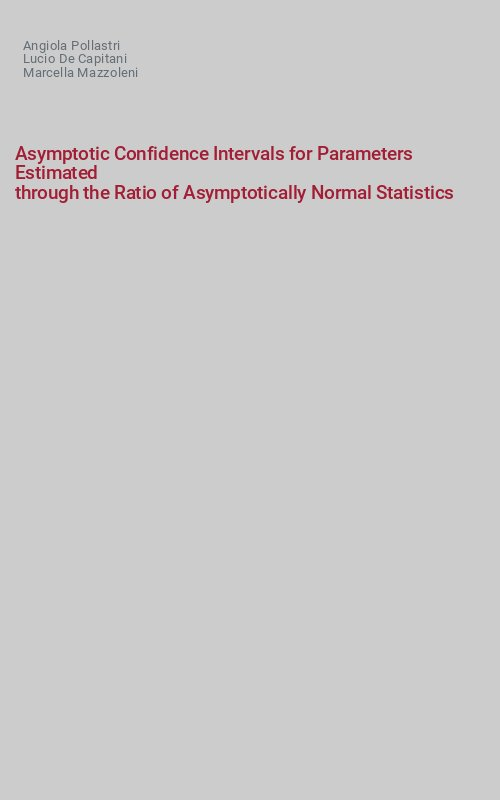 Asymptotic Confidence Intervals for Parameters Estimated
