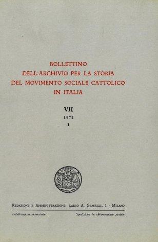 Mons. Geremia Bonomelli e l'azione sociale dei cattolici italiani