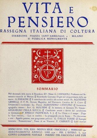 Nel decennale della morte di Benedetto XV