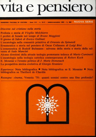 Nota bibliografica su E. Mounier