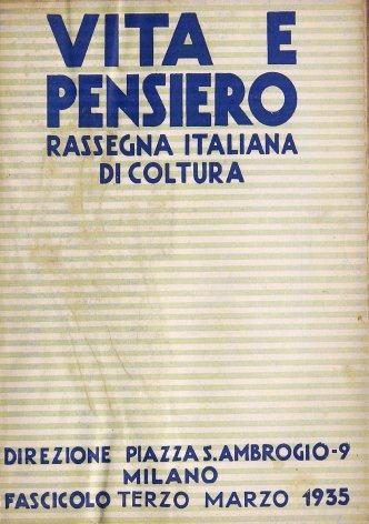 Note di politica internazionale: Da Roma a - La risposta tedesca - Il problema austriaco - Italia ed Abissinia