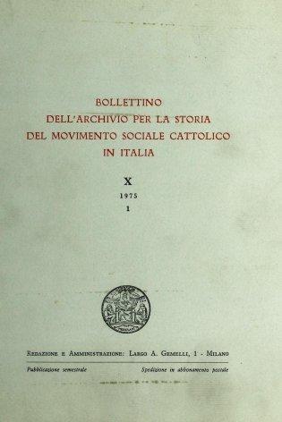 Note per la storia del movimento sociale cattolico a Treviso dal 1904 al 1915
