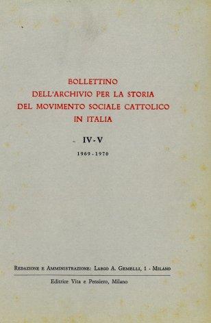 Notizie sul materiale archivistico relativo al movimento cattolico e all'unione cattolico-popolare del Friuli orientale