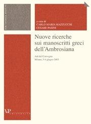 Nuove ricerche sui manoscritti greci dell'Ambrosiana