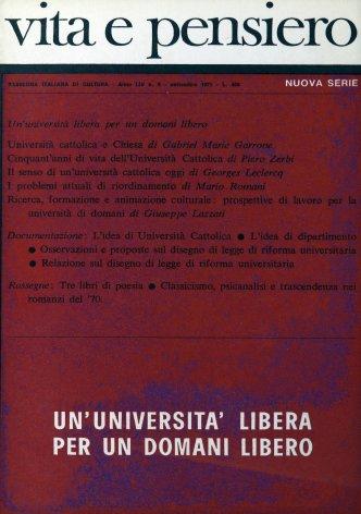 Osservazioni e proposte sul disegno di legge di riforma universitaria