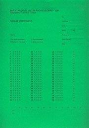 pacco da 100 fogli di risposta Inventario dei Valori Professionali